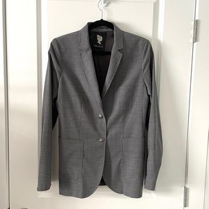 ARITZIA / TALULA / GREY BUTTON BLAZER